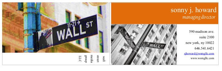 wallstreetbusinesscardorange